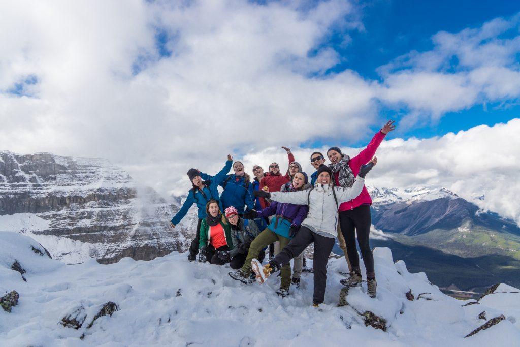 The team on top of Saint Piran.